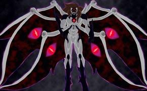 Picture dark, sake, game, Bleach, monster, evolution, anime, wings, power, man, evil, asian, shadows, manga, darkness, ...