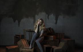 Picture blonde, actress, Sarah Carter