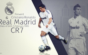 Picture background, the ball, real Madrid, CR7, Ronaldo, cleats, Megastar