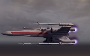 Picture flight, Star Wars, Star Wars, spaceship, X-wing