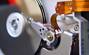 Picture mechanism, disk, hard, the interior