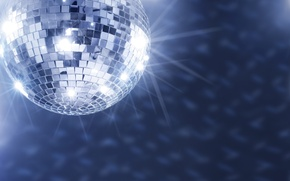 Picture Music, Party, Disco ball, The glare from the ball, Mirror, Disco