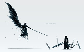 Wallpaper cloud, swords, final fantasy, Sephiroth, sefiroth