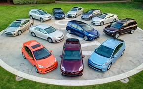Picture Lexus, Toyota, cars, a lot