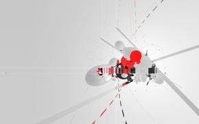 Wallpaper minimal, trance, AMPLIFIER404, cinema 4d, strokes, cross