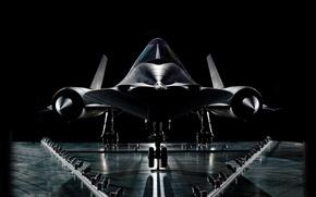 Picture the plane, background, black, wheel, turbine, Aviation, Lockheed SR-71