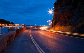 Picture the sky, lights, markup, trail, Road, lights