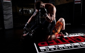 Picture muscles, mma, fighting, bjj, wrestling, cage