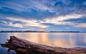 Wallpaper lake, water, Il, the sky, clouds, sunset