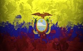 Picture paint, flag, flag, Ecuador, The Republic Of Ecuador, Ikwadur Republika, Republic of Ecuador