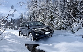 Picture Toyota, Russia, 200, snow, Ural