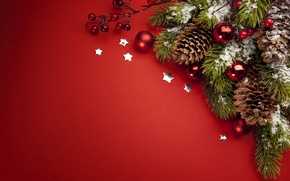 Wallpaper holiday, toys, new year, spruce, the scenery, bumps, happy new year, christmas decoration, Christmas Wallpaper, ...