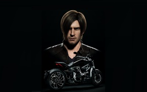 Picture look, the film, jacket, motorcycle, hairstyle, character, leon kennedy, CGI, 3D, resident evil vendetta