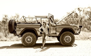 Picture ford, Girls, Off Road, Bronco