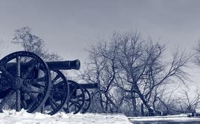Picture winter, gun, Bryansk Arsenal
