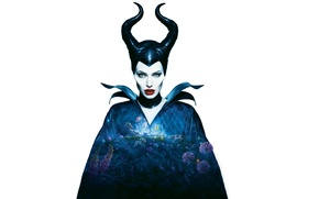 Picture Angelina Jolie, Angelina Jolie, horns, Maleficent, Maleficent