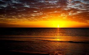 Wallpaper sea, the sun, sunset