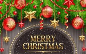 Picture stars, decoration, holiday, balls, balls, stars, Merry Christmas, holiday, decoration, Christmas