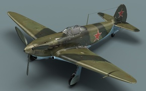 Wallpaper the plane, the Yak-3, Soviet fighter, cabin