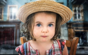 Picture look, portrait, hat, girl
