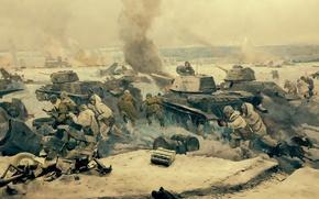 "Picture Museum, Panorama, fragment, the hero-city of Volgograd, ""Battle of Stalingrad"""