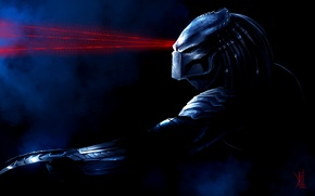 Picture mask, Predator, lasers, art, by TheRisingSoul, Wolf Predator