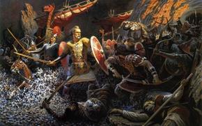 Picture Russia, cypma4, paganism, I go to You, Svetoslav, Prince, True, Svyatoslav