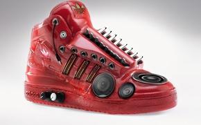 Wallpaper Red, Audio, Adidas