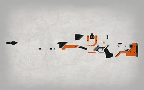 Picture Background, Valve, Weapons, Asiimov, Skin, Global Offensive, Workshop, Weapon, Gun, CS:GO, Counter Strike, Steam, Awp
