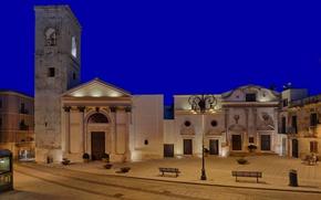 Picture night, lights, home, Italy, Cagliari, Sardinia