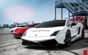 Picture Lamborghini, white, Superleggera, Gallardo, galardo, lamborghi
