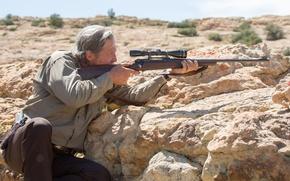 Wallpaper crime, shelter, optical, Jeff Bridges, rifle, carabiner, sight, Jeff Bridges, Sheriff, Hell or High Water, ...
