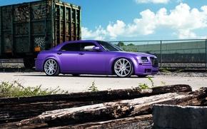 Picture Chrysler, wheels, side, tuning, 300, vossen, purple