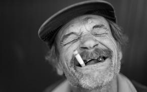 Picture portrait, cigarette, male