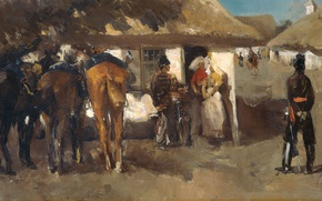 Picture picture, genre, Georg Hendrik Breitner, The quartering