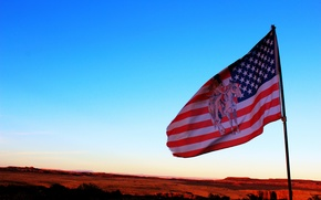 Picture the sky, flag, USA, Indian, native
