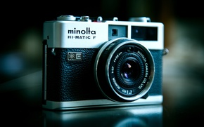 Picture retro, photo, camera, photographer, lens, optics, technology, zoom, shutter, equipment, Minolta, photography