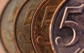 Picture macro, background, coin, 5