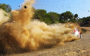 Picture Ford, Dust, Sport, Machine, Speed, Stones, Ford, WRC, Rally, Fiesta