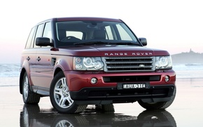 Picture reflection, jeep, Land Rover, Range Rover, the front, Sport, Range Rover, Land Rover