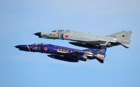 Picture fighters, flight, Phantom II, Phantom II, Mitsubishi F-4EJ