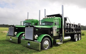 Picture truck, chrome, the front, tractor, Peterbilt, Peterbilt