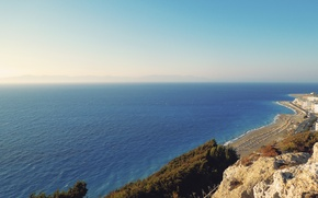 Picture sea, beach, Greece, Rhodes