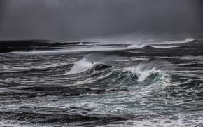 Picture sea, wave, storm