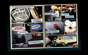 Wallpaper hero, villain, raccoon, Comic, super, South Park, south park, coon, cartman, Cartman, comics