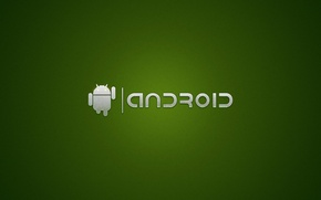 Picture green, the inscription, robot, android