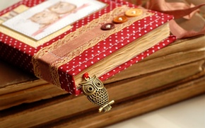 Picture owl, books, magazines, owl, books, journal