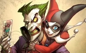 Picture map, Joker, DC Comics, Harley Quinn