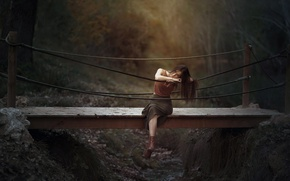Picture girl, bridge, mood, Marta Belda