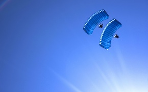 Picture the sky, sport, parachuting